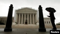 在美國首都華盛頓的最高法院的外景。