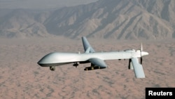 An undated U.S. Air Force image shows a MQ-1 Predator unmanned aircraft.