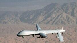 """Foto yon avyon telegide """"Drone"""" Lame de lè ameriken an. Non angle li: Predator-Predatè"""