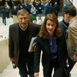 Bill and Melinda Gates at the World Economic Forum in Davos, Switzerland, last year
