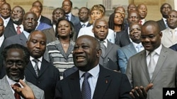 Laurent Gbagbo et son gouvernement