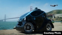 The O-R3 driverless vehicle is powered by advanced machine learning and 3D technology to self-navigate its surroundings. (OTSAW Digital Inc)