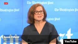 김정은 평전의 저자 애나 파이필드 기자가 12일 '워싱턴포스트'가 개최한 저자 간담회에 참석했다.