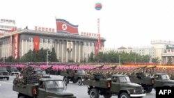 Prizor sa severnokorejske vojne parade u Pjongjangu