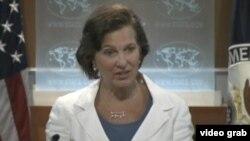 國務院發言人紐蘭(VOA視頻截圖)
