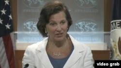 美國國務院發言人紐蘭(VOA視頻截圖)