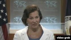 国务院发言人纽兰(VOA视频截图)