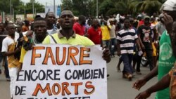 Brigitte Adjamagbo Johnson, coordinatrice de 14 partis d'opposition, jointe par Yacouba Ouedraogo