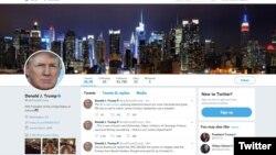 川普总统的推特页面