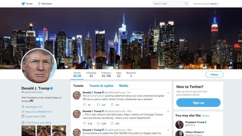 صدر ٹرمپ کا ٹوئٹر اکاؤنٹ 11 منٹ تک بند رہنے کے بعد بحال