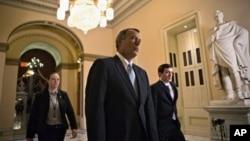 共和党籍的美国众议院议长贝纳1月15日在国会山