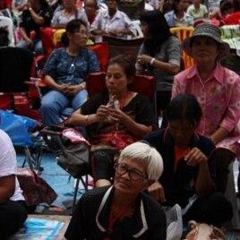 Senior Lady in the Protest Camp, Bangkok, May 16, 2010