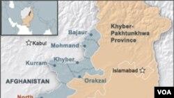 Peta wilayah Waziristan Utara (Foto: dok).
