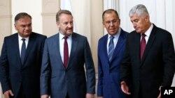 Sergej Lavrov, šef ruske diplomatije sa članovima predsedništva BiH u Sarajevu 21. septembra 2018.
