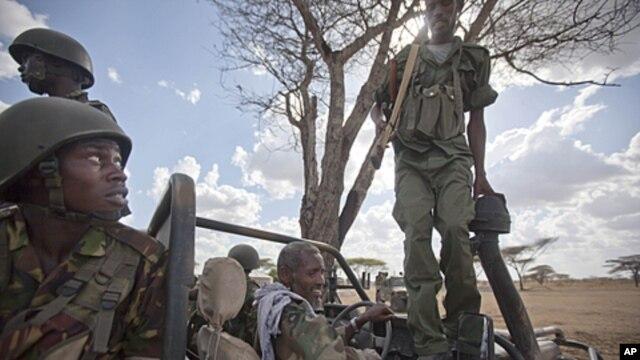 Sojojin Kenya da na Somaliya a garin Tabda, kasar Somaliya