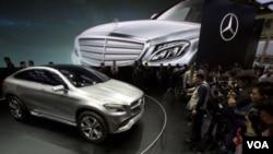 北京的奔馳汽車展(2014年4月20日資料照)