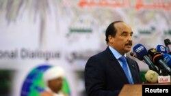 Le président mauritanien Mohamed Ould Abdel Aziz à Khartoum, Soudan, le 10 octobre 2016.