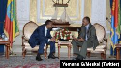 Minisitiri w'intebe wa Etiyopiya, Abiy Ahmed na perezida wa Eritereya Isaias Afwerki