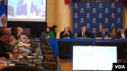 La sesión del miércoles 12 de febrero de 2020 se produce en momentos en que la OEA se preparapara elegir a la persona que asumirá la posición en la elección del próximo 20 de marzo.