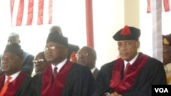 Chief Justice Johnnie Lewis (right)