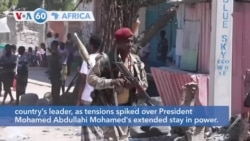 VOA60 Africa - Somalia: Gunfire erupted in Mogadishu between rival forces