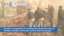 VOA60 Addunyaa - At least five killed, 20 injured as strong earthquake strikes Croatia