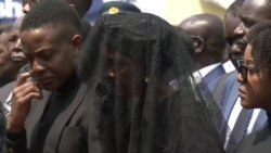 Former Zimbabwe First Lady At State Burial for Late Leader and Husband