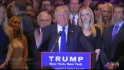 New York Primary Victory, Concession Speeches