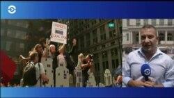 Триумфальный парад по Каньону героев в Нью-Йорке