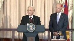 TBT Nguyễn Phú Trọng phát biểu tại buổi tiếp đãi ở Bộ Ngoại giao Mỹ