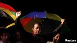د تحریک انصاف گوند مشر عمران خان خپلو پلویانو د وینا کولو پر مهال