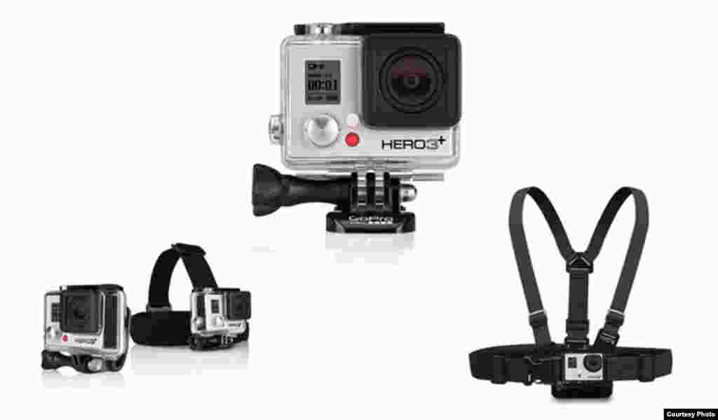 GoPro is a line of personal cameras that can be mounted on a helmet or other piece of sports equipment. The cameras are especially popular with extreme sports participants.