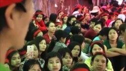 缅甸当局警告工厂工人停止罢工
