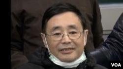 陈子明抵达波士顿治疗癌症(2014年1月,美国之音黄耀毅拍摄)