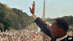 1968년 8월28일 마틴 루터 킹 목사 워싱턴 연설 장면 (자료사진)