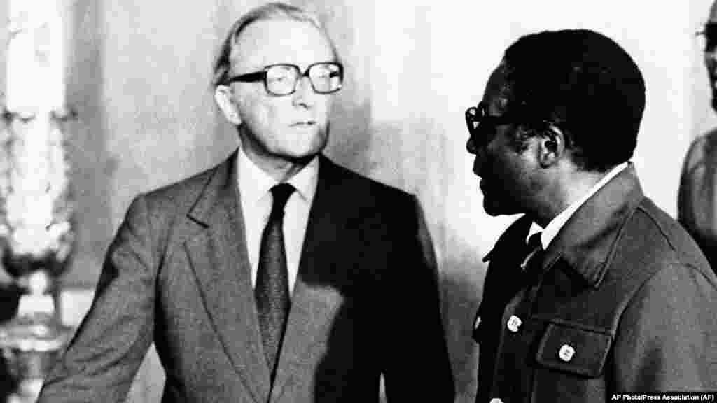 Lancaster - Zanu-PF Leader Robert Mugabe with Lord Carrington