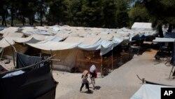 Suasana di kamp pengungsi Ritsona, sebelah utara Athena, 14 Juli 2016 (Foto: dok).