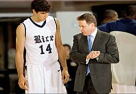 Ben Braun, Rice University's head basketball coach, believes Arsalan Kazemi has unlimited potential.