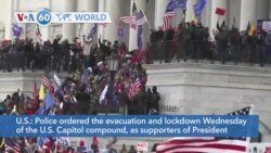 VOA60 World - US Capitol on Lockdown as Trump Protesters Breach Congress
