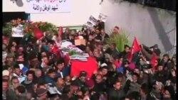 """數萬突尼斯人出席被暗殺""""人民陣線""""領袖的葬禮"""