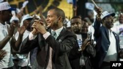 L'opposant congolais Moïse Katumbi lors de la sortie de sa plateforme électorale, à Johannesburg, Afrique du Sud, 12 mars 2018.