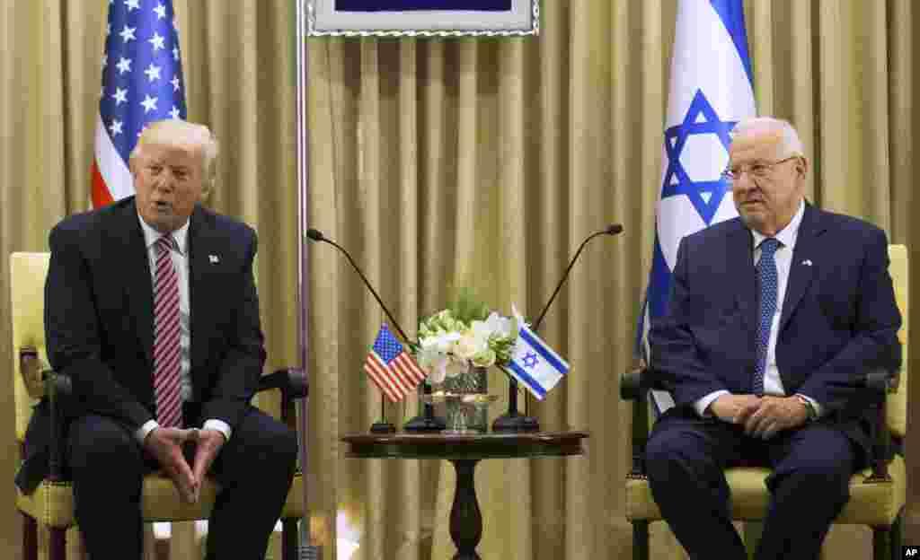 «رووین ریولین» رئیس جمهوری اسرائیل هم در دیدار با پرزیدنت ترامپ خواستار خروج ایران از سوریه و نزدیکی اسرائیل شد.
