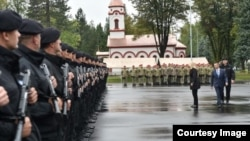 Svečano postrojavanje Jedinice žandarmerije MUP-a RS (Fotografija preuzeta sa MUP-a RS)