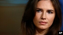 "Amanda Knox during a television interview on NBC's ""Today"" show in New York, Sept. 20, 2013."