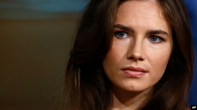 """Amanda Knox during a television interview on NBC's """"Today"""" show in New York, Sept. 20, 2013."""