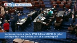 VOA60 America - Congress struck a nearly $900 billion COVID-19 relief package deal late Sunday