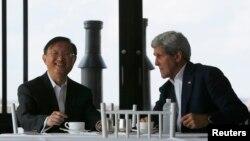 Ông Kerry tiếp nhà ngoại giao hàng đầu của Trung Quốc tại tư gia của ông ở thành phố Boston, bang Massachusetts, trong hai ngày.