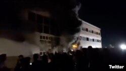 تصویر گرفته شده از یک ویدیوی آتش سوزی - توئیتر