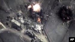 Snimak eksplozije bombe koju je ispustio ruski avion u Siriji 1. oktobra
