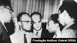 Amílcar Cabral, com Marcelino dos Santos e Agostinho Neto, Roma